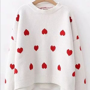 Sweaters - Worn once ❤️❤️ Heart Knit Sweater ❤️❤️❤️